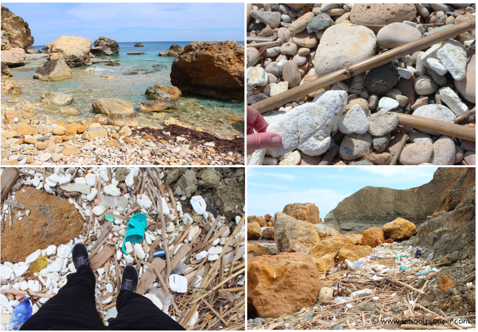 Gozo-Plastikmüll-Styropor-Strand-Umweltschutz-schoolpioneer