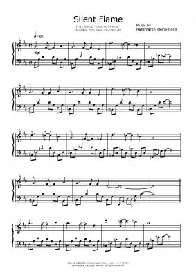"""Silent Flame"" Sheet Music / Klaviernoten Download"