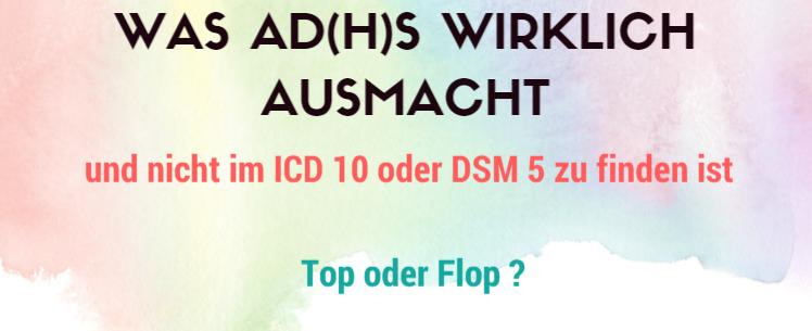 Exekutivfunktionen und ADHS : Was macht ADHS wirklich aus und steht nicht im ICD 10 ?
