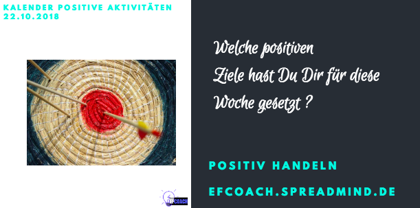Kalender Positiver Aktivitäten 22.10.2018