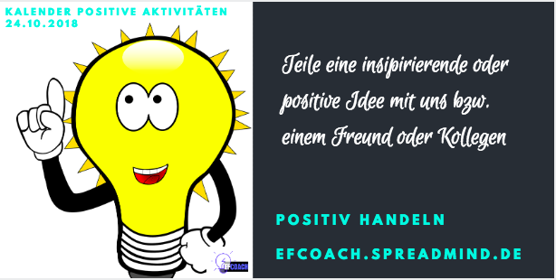 Kalender Positiver Aktivitäten 24.10.2018