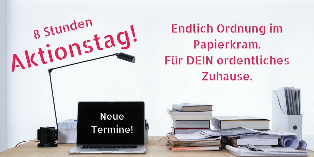 """Tages-Workshop """"Endlich Ordnung im Papierkram"""""""