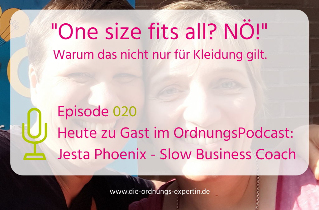 Episode 020 - One size fits all? Nö!