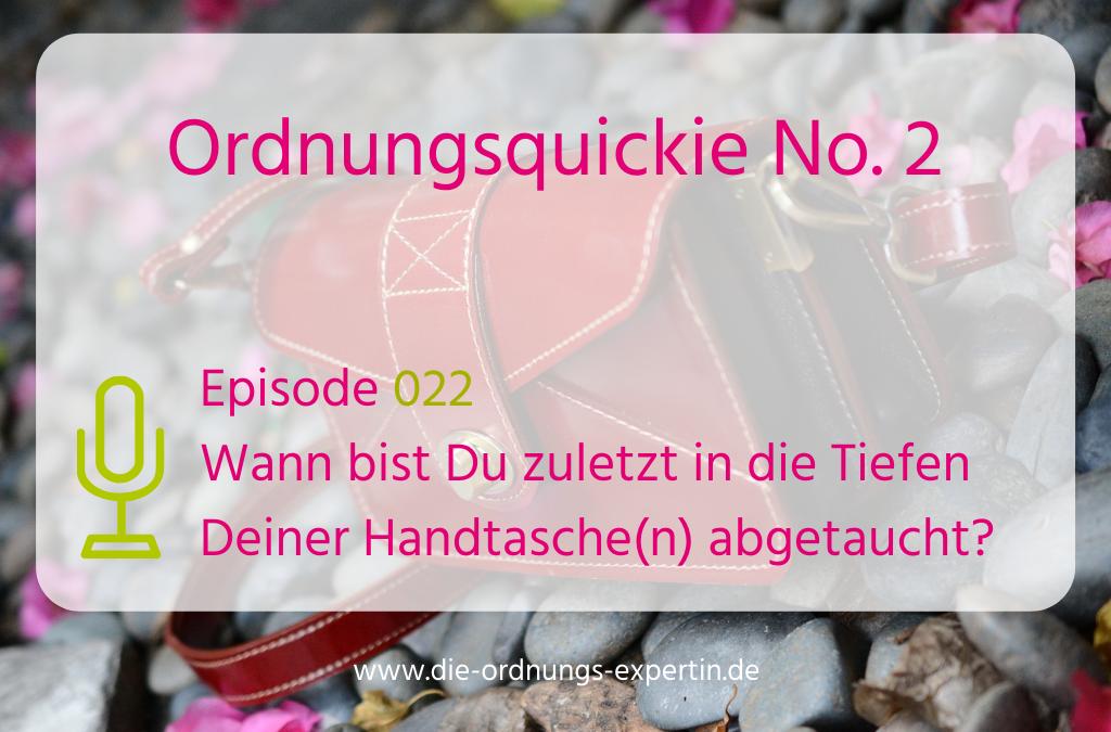 Episode 220 - Die Tiefen Deiner Handtasche