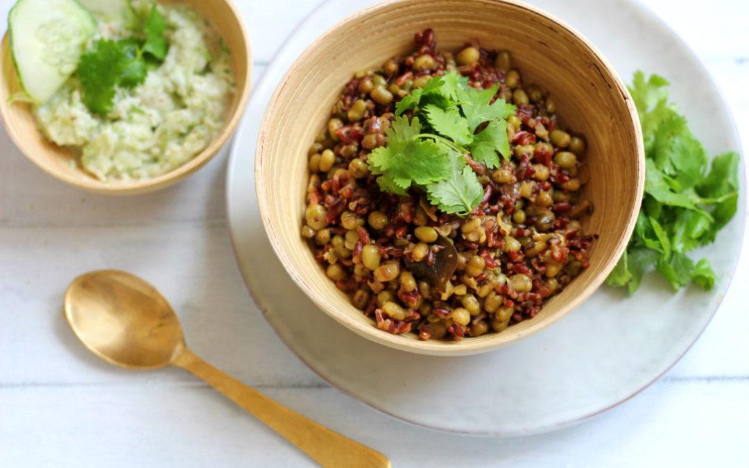 Ayurvedisches Kitchari mit rotem Reis