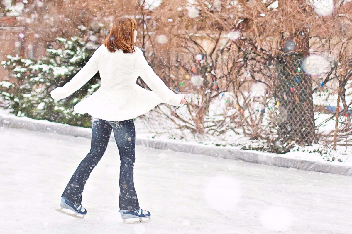 Schlittschuhlaufen - Bewegung, gegen Extrapfunde