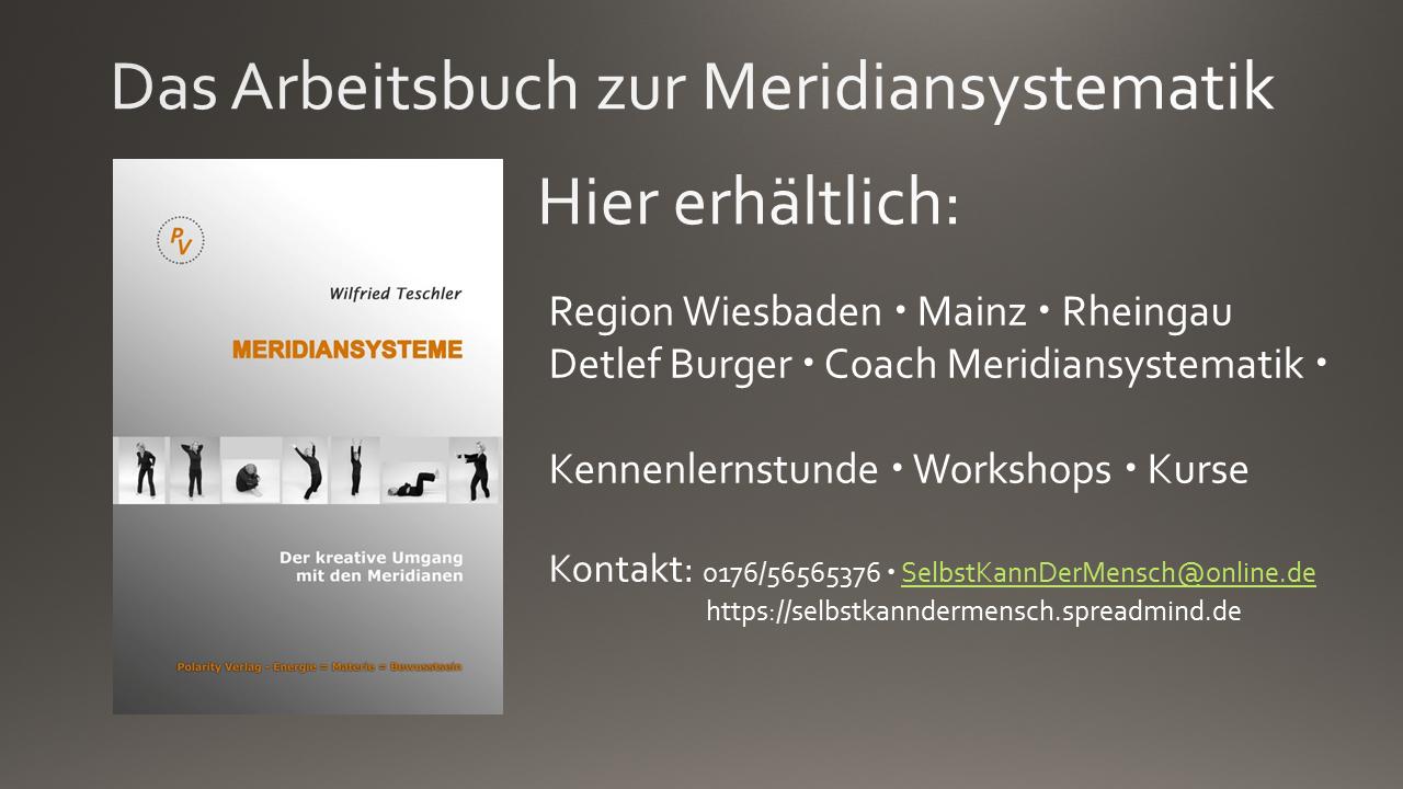 """Frisch eingetroffen:  """"Meridiansysteme"""" – das Buch."""
