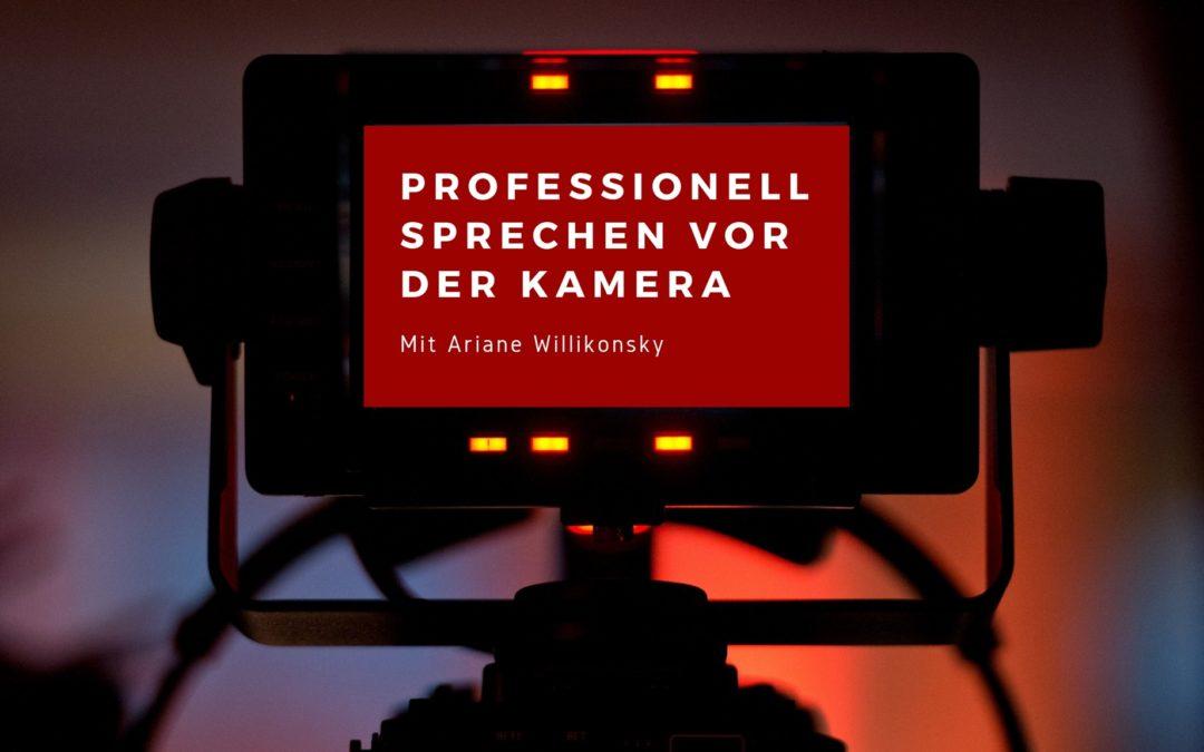 Online Kurs – Professionell sprechen vor der Kamera