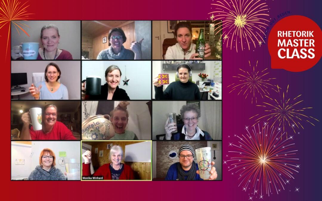 Die Rhetorik Masterclass wünscht euch ein frohes neues Jahr!