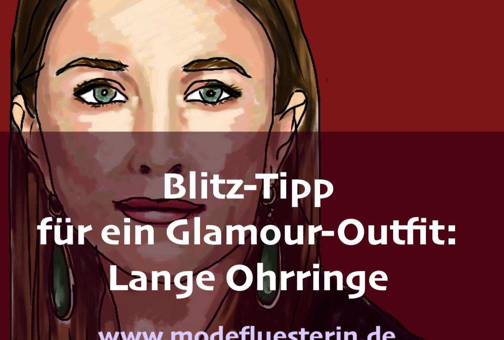Lange Ohrringe: Blitz-Tipp für ein Glamour-Outfit