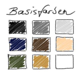 Helle und dunkle Basisfarben, wie Schwarz, Weiß, Dunkelblau, Braun, Camel oder Nude, sind das Fundament jeder perfekten Garderobe.