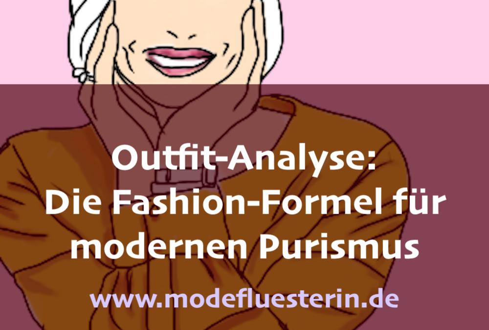 Outfit-Analyse: Ein puristisches Outfit für Wintertypen und eine Fashion-Formel für Purismus