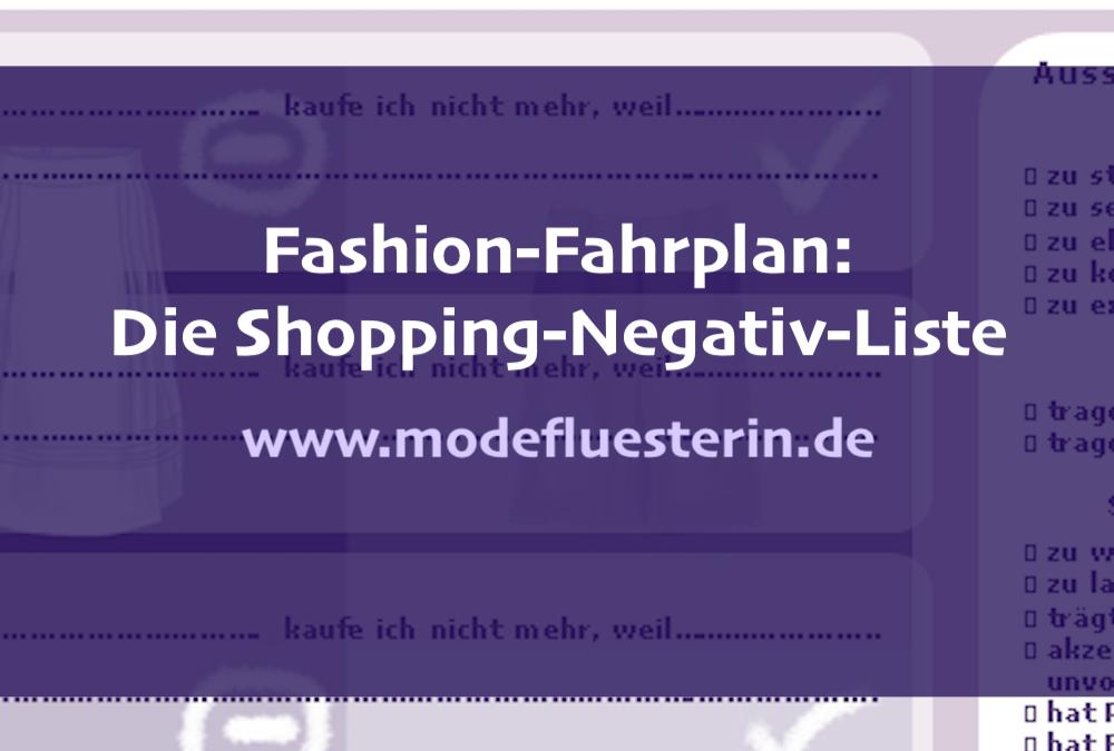 Fashion-Fahrplan: Ihre Shopping-Negativ-Liste als Checkliste zum Download