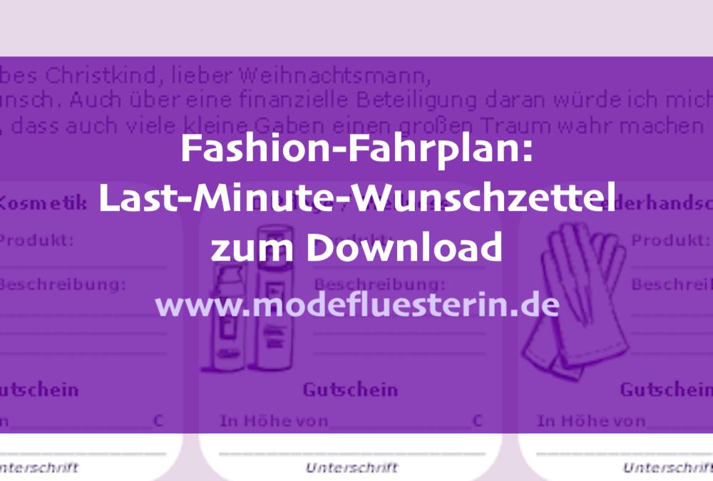 Der Last-Minute-Wunschzettel für Mode zum Download: Stilvolle Geschenk-Ideen für Frauen