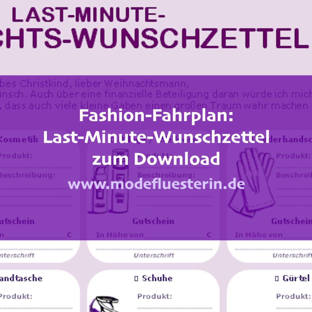 Last-Minute-Wunschzettel für Mode zum Download