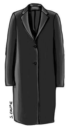 Puristischer Mantel von Calvin Klein. Mit einem Klick aufs Bild geht's zum Original.