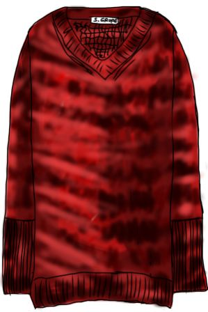 Klicken Sie auf das Bild, um sich den Pullover mit Batik-Muster im Original anzusehen!