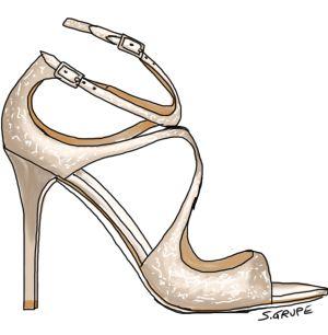 Eine luxuriös glitzernde Sandalette darf beim Glamour-Stil nie fehlen. Klick!