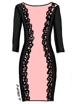 Dieses rosa Kleid mit Spitze ist einem erwachsenen Girly würdig. Ein Klick bringt Sie zu mehr Girly-Kleidern.