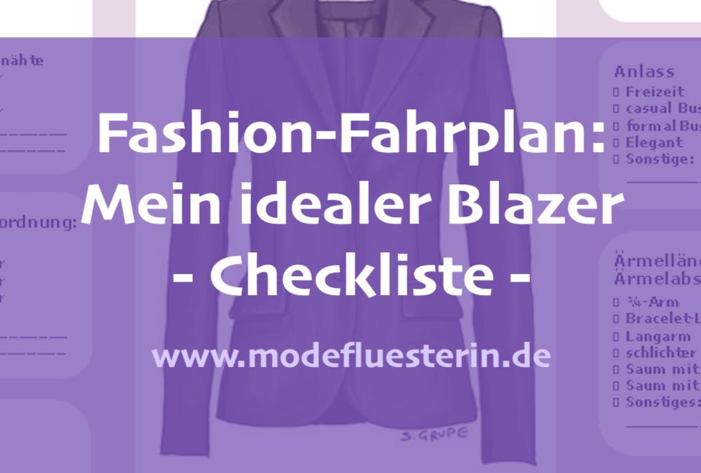 Fashion-Fahrplan: Ihr idealer Blazer – die Checkliste