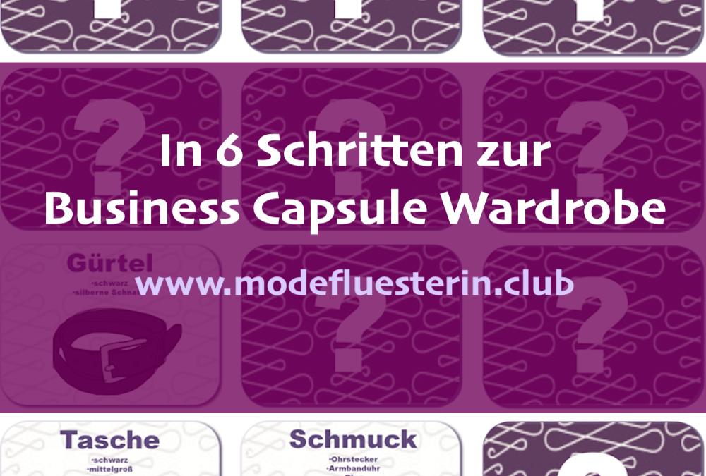 Business Capsule Wardrobe aufbauen: In nur 6 Schritten zur Basisgarderobe fürs Büro