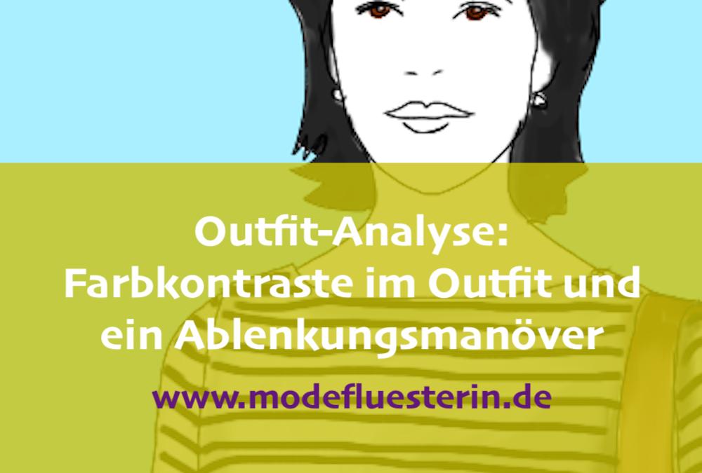 Outfit-Analyse: Interessante Farbkontraste im Outfit oder der Easy Chic an einer kleinen A-Figur
