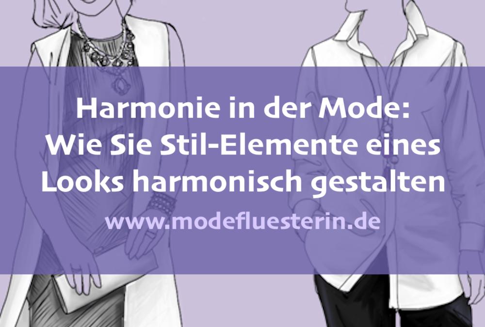 Harmonie in der Mode: So setzen Sie Stil-Elemente harmonisch ein (Teil 3)