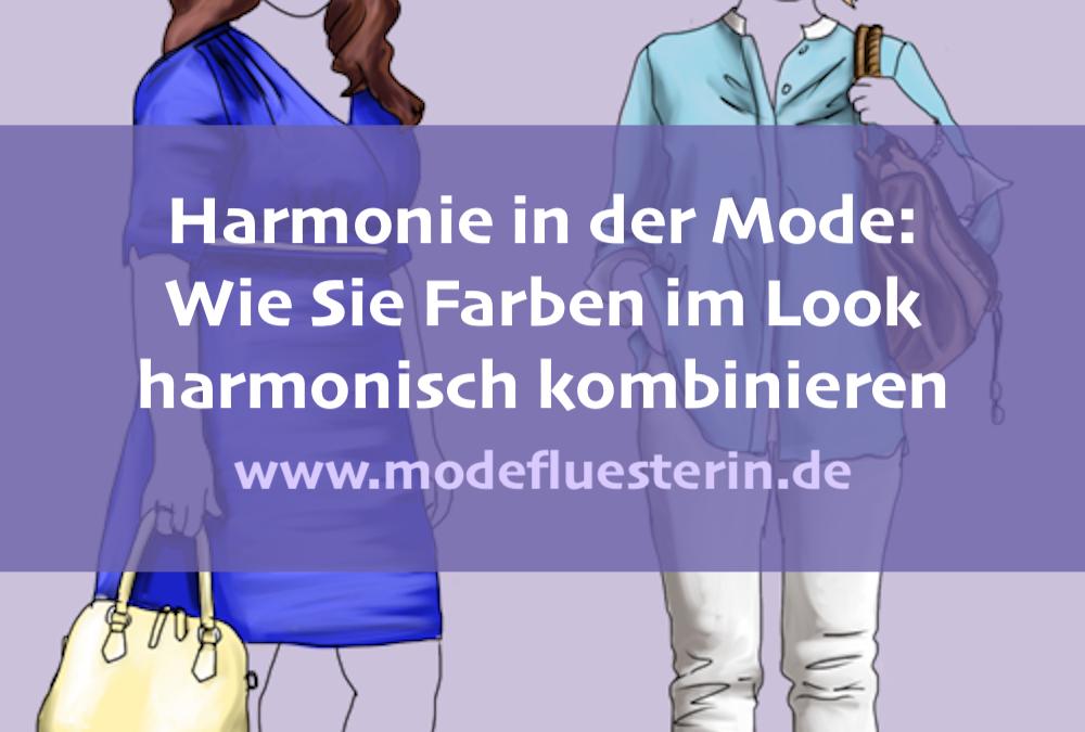 Harmonie in der Mode: So kombinieren Sie Farben im Outfit harmonisch (Teil 1)