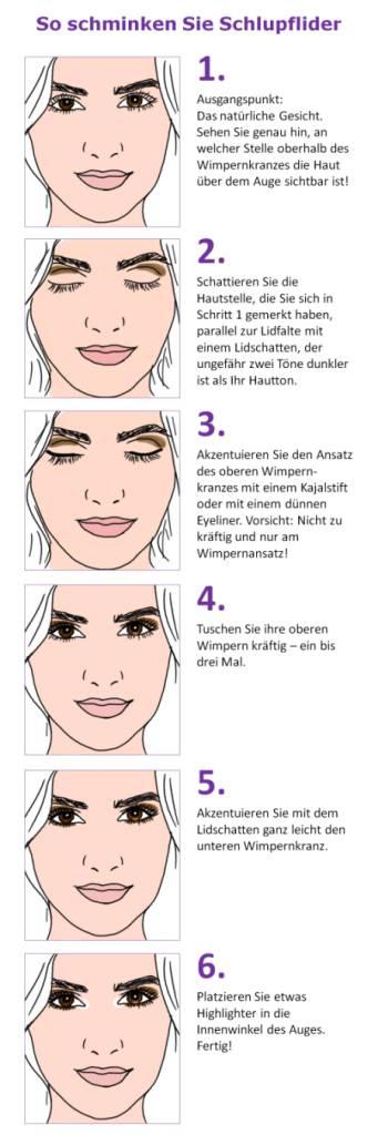 So schminken Sie Schlupflider einfach weg - Schlupflider kaschieren mit Makeup