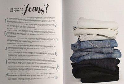 In dieser Aufzählung findet die Leserin die wichtigsten Tipps für die Auswahl von passenden Jeans.