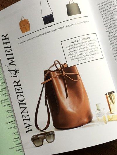 Wie viele und vor allem: welche Taschen braucht die Frau? Einen Vorschlag gibt es natürlich auch für diese Stil-Frage.