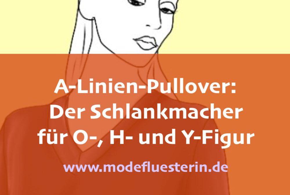 A-Linien-Pullover machen schlank – besonders den O-, H- und Y-Figurtyp