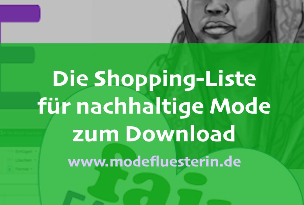 Nachhaltige Mode einkaufen: Shopping-Liste zum Download