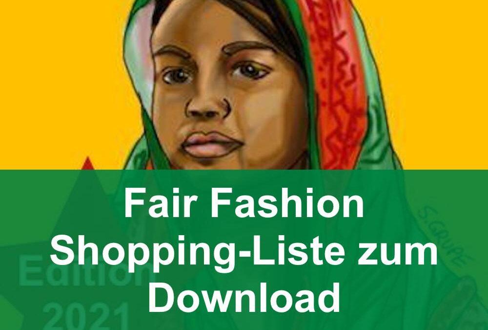 Nachhaltige Mode einkaufen: Die Shopping-Liste für Fair Fashion zum Download
