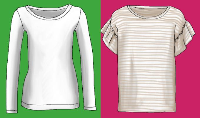 Die Ärmelweite entscheidet darüber, wie sich das T-Shirt für den Lagenlook eignet - Modeflüsterin