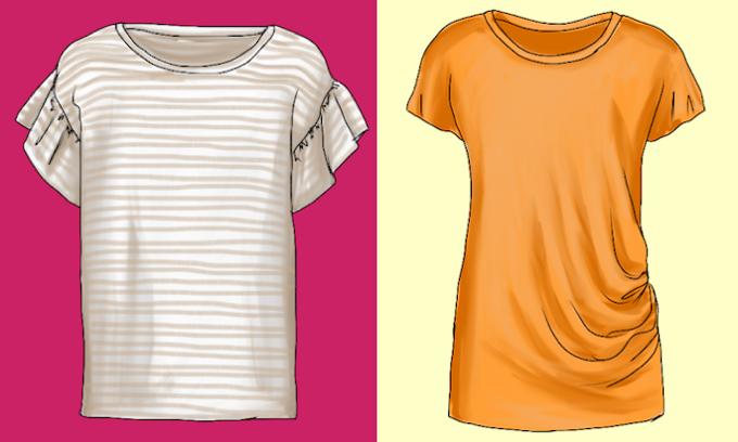 T-Shirts mit Akzentfarbe sind gut kombinierbar, mit Mustern sind sie Stilgeber - Modeflüsterin