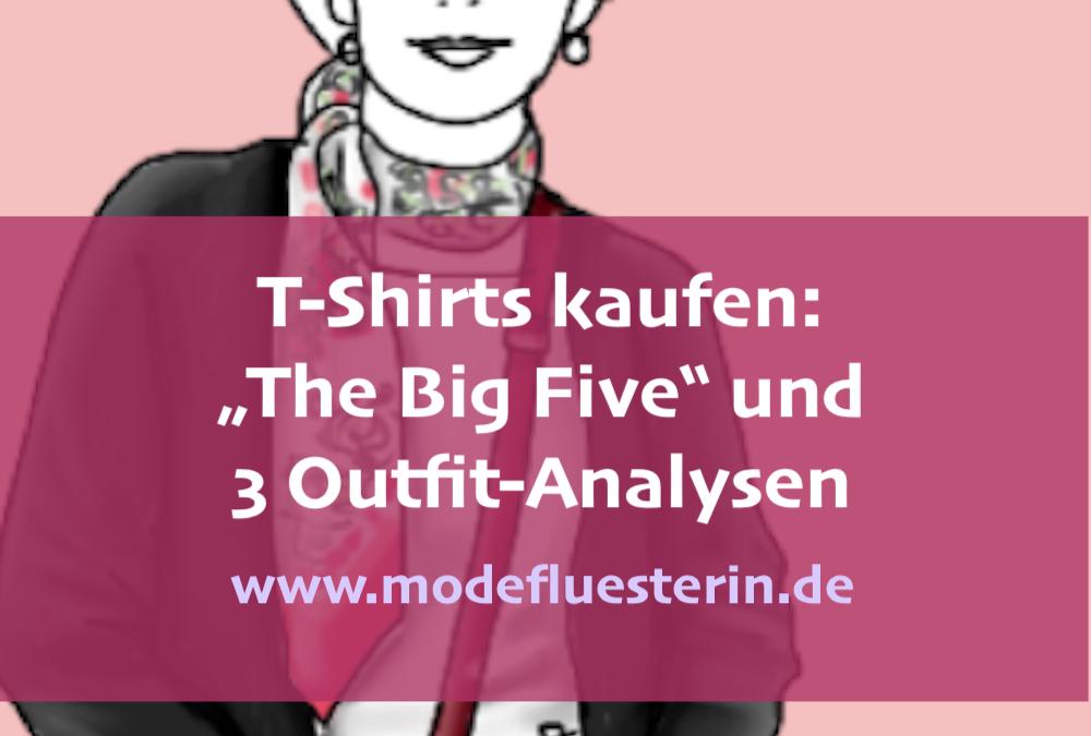 """T-Shirts kaufen: """"The Big Five"""" – die fünf besten T-Shirts für Ihre Basisgarderobe"""