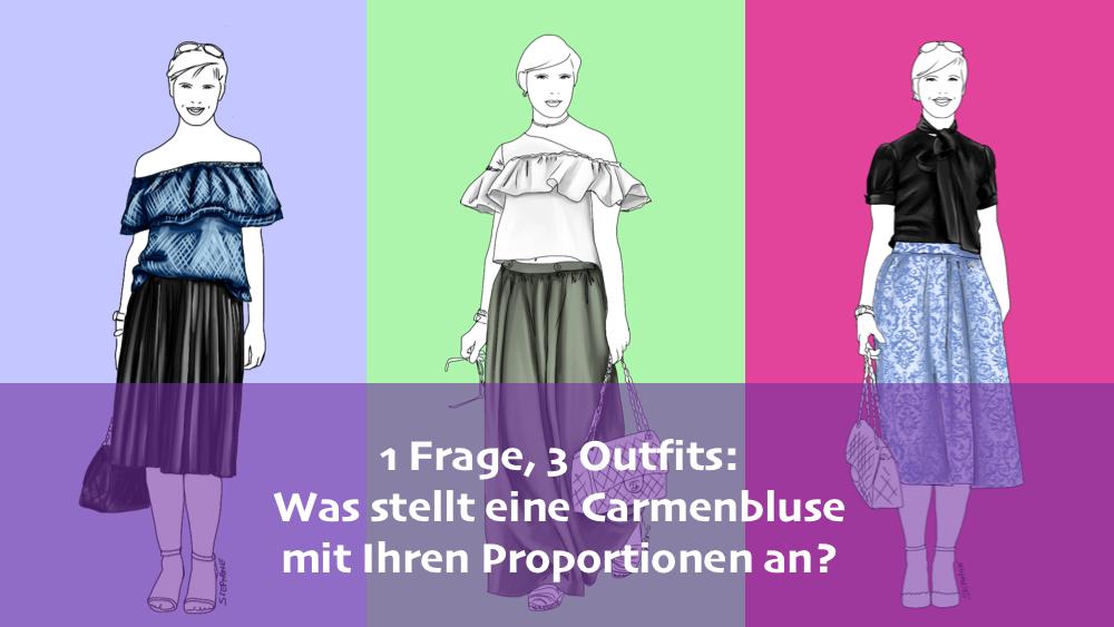 Carmenbluse verändert Körperproportionen beim A-Figurtyp - Modeflüsterin