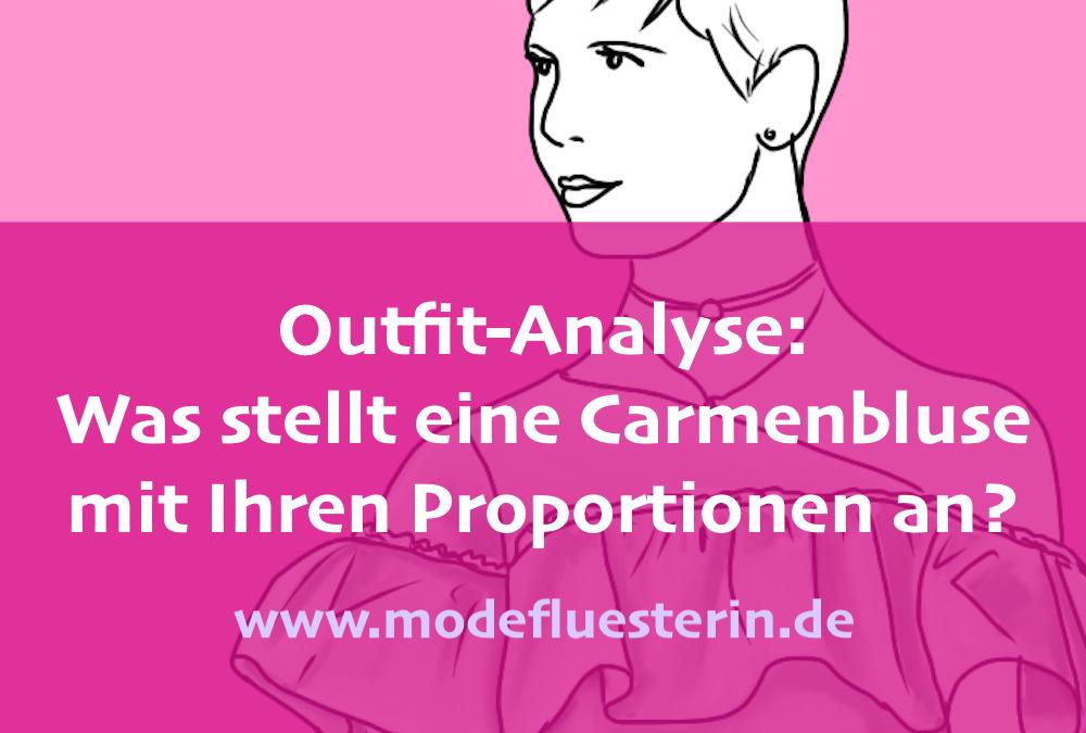 1 Frage, 3 Outfit-Analysen: Für welche Figur ist eine Carmenbluse geeignet?