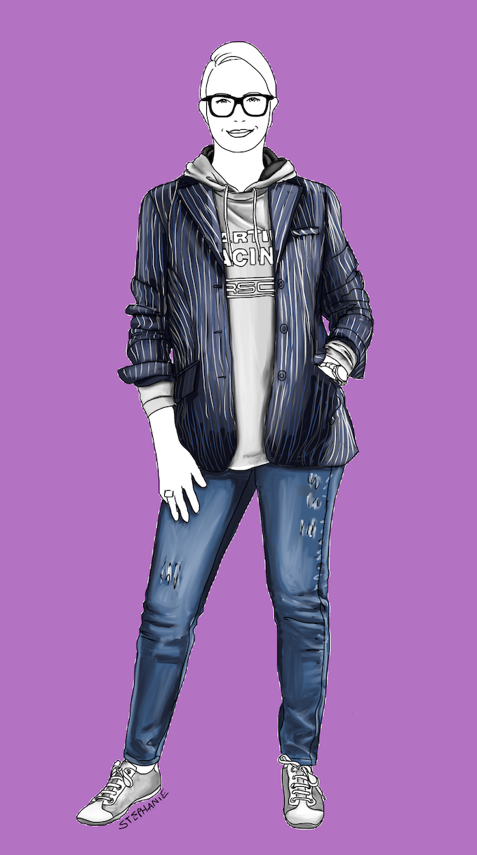 Wie Sie einen Hosenanzug lässig stylen - Outfit mit Anzugjacke - Modeflüsterin