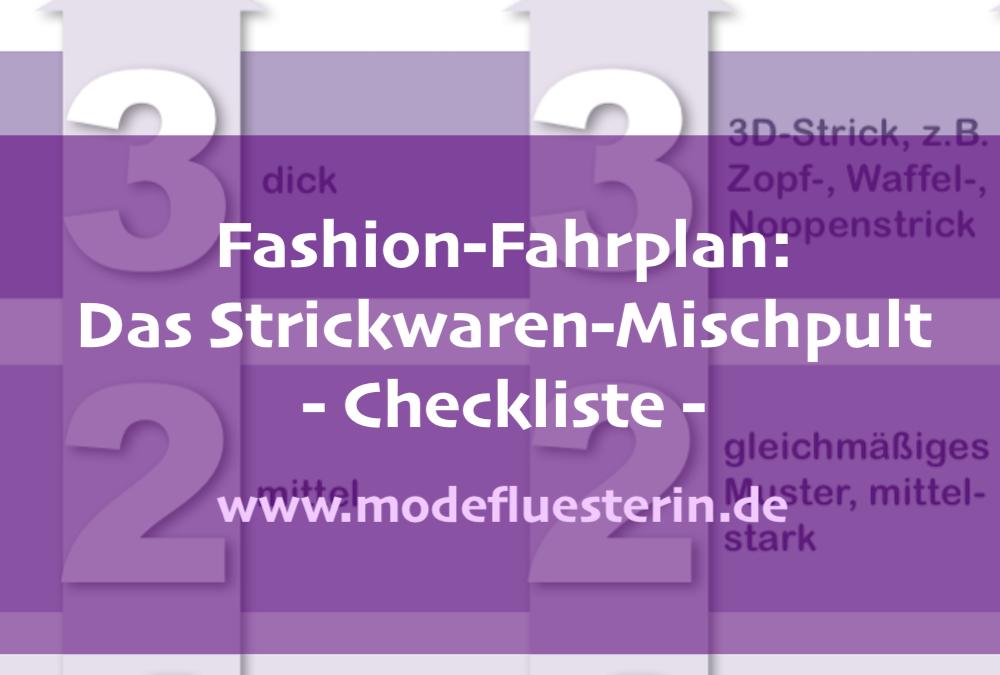 Fashion-Fahrplan: Das Strickwaren-Mischpult – Checkliste