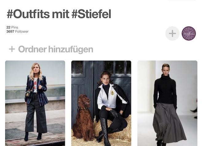Outfits mit kniehohen Stiefeln auf Pinterest