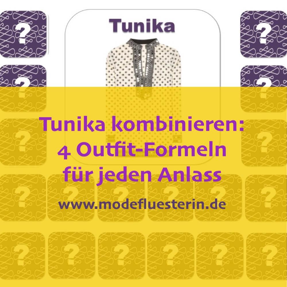 Tunika kombinieren - 4 Outfit-Formel für Strand, Freizeit, Büro und Party