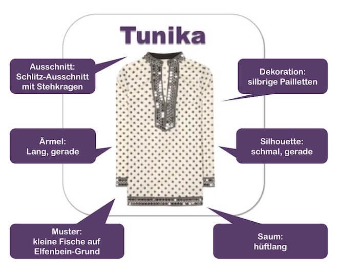 Wie Sie die Tunika kombinieren können und welche Tunika Sie schlanker aussehen lässt, hängt vom Schnitt und den dekorativen Details ab.