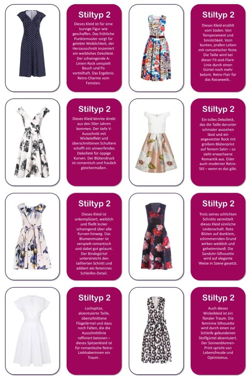 Welches Kleid passt zu welchem stil? Auflösung für Stiltyp 2