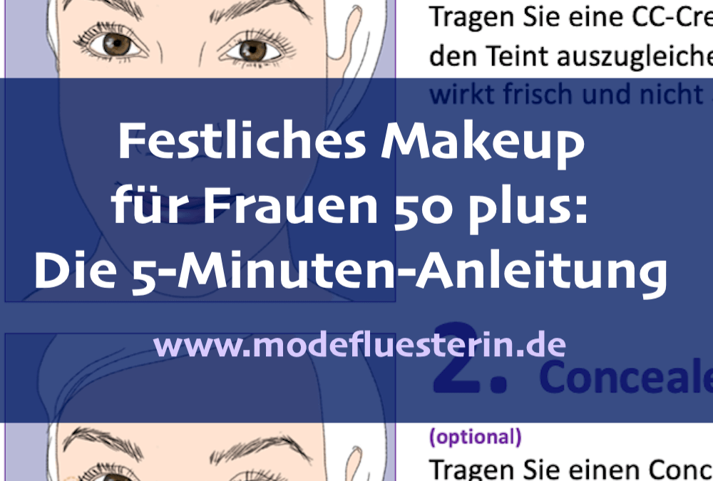 Festliches Makeup für Frauen 50 plus – die 5-Minuten-Anleitung für Anfänger und Fortgeschrittene