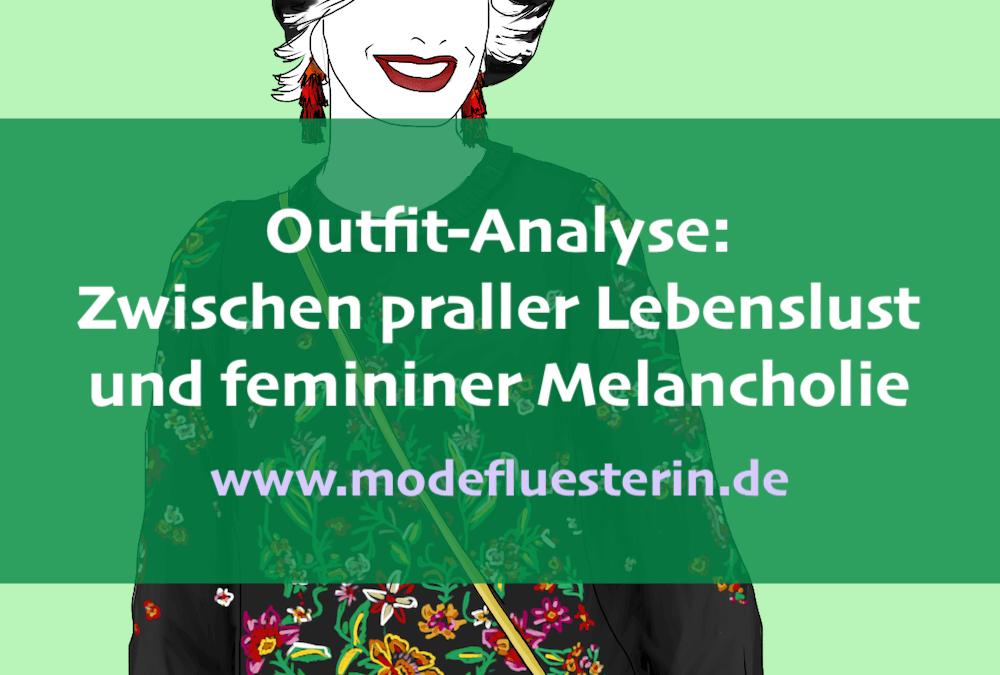 Outfit-Analyse: Zwischen praller Lebenslust und femininer Melancholie