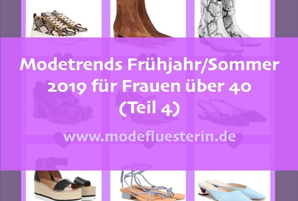 Modetrends Frühjahr/Sommer 2019 für Frauen über 40 – Teil 4: Trend-Schuhe, Taschen, Accessoires