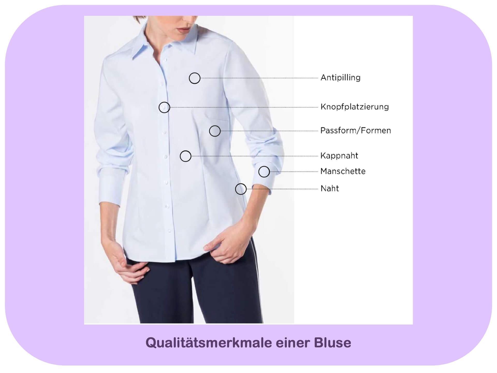 Wie erkennt man die Qualität einer Bluse? Diese Merkmale helfen.