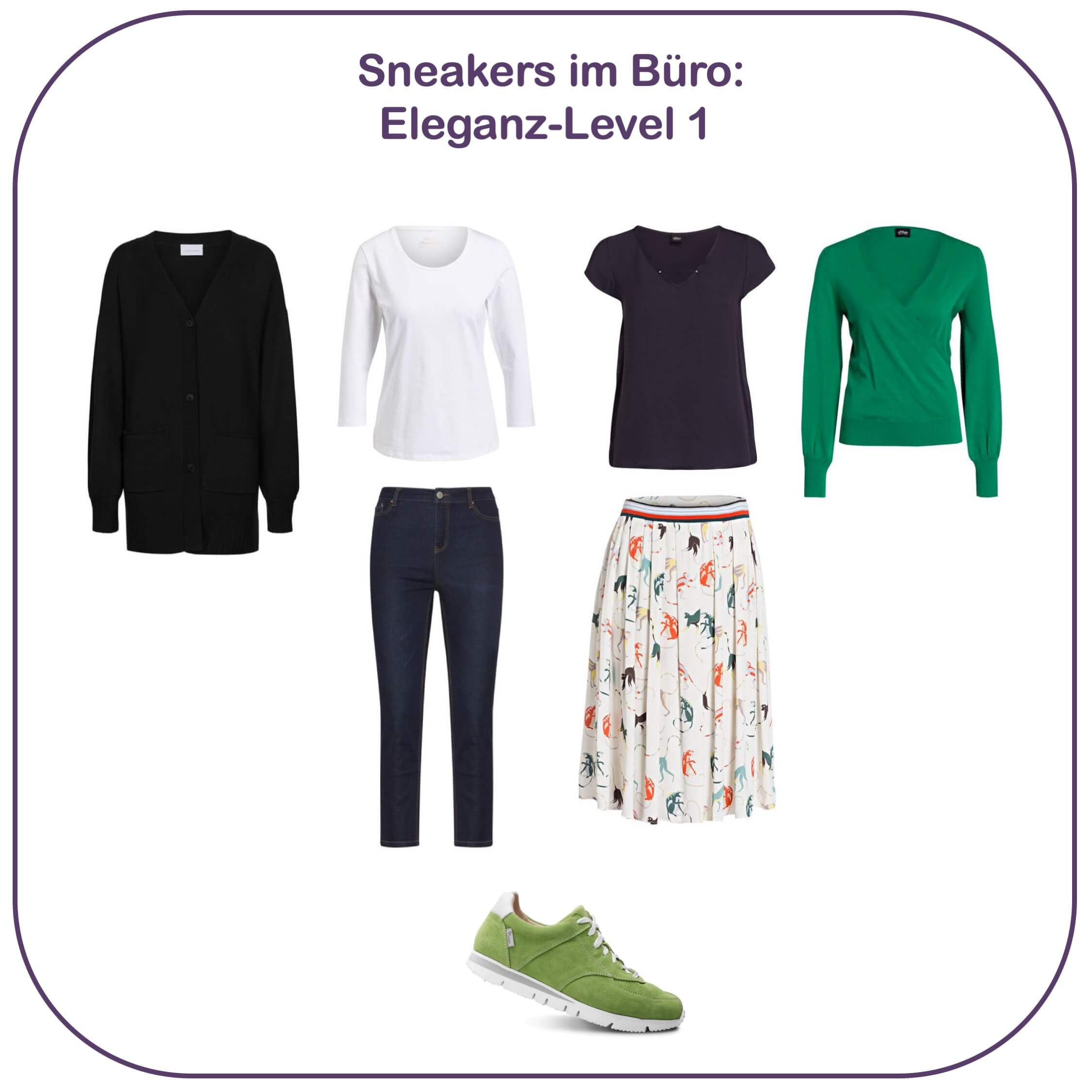 Sneakers im Büro - Eleganz-Level 1